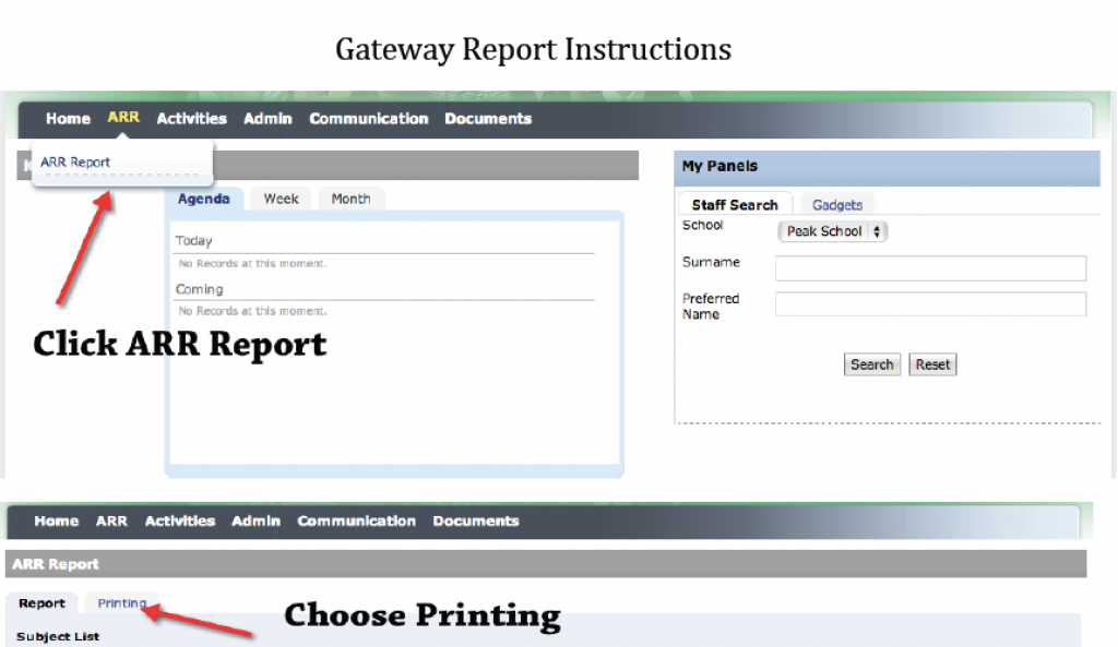 Gateway Report Support