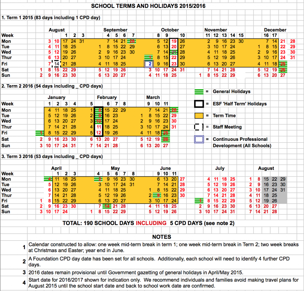 15/16 Academic Calendar