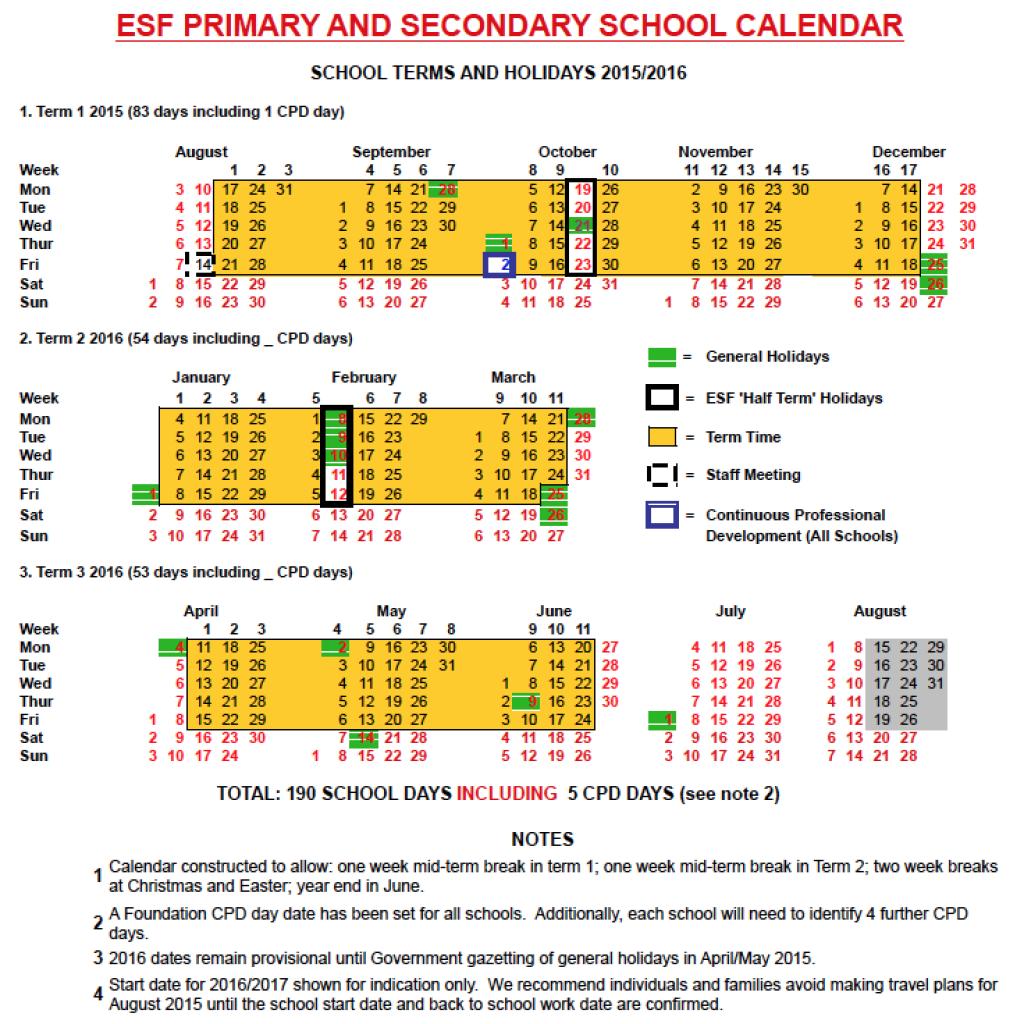 2015-2016 Draft Calendar